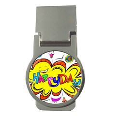 Happy Happiness Child Smile Joy Money Clips (round)  by Celenk