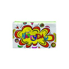 Happy Happiness Child Smile Joy Cosmetic Bag (xs) by Celenk