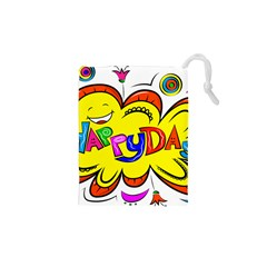 Happy Happiness Child Smile Joy Drawstring Pouches (xs)  by Celenk