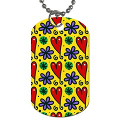 Seamless Tile Repeat Pattern Dog Tag (one Side) by Celenk