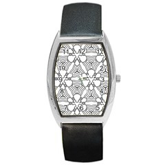 Pattern Design Pretty Cool Art Barrel Style Metal Watch by Celenk
