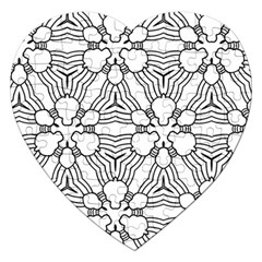 Pattern Design Pretty Cool Art Jigsaw Puzzle (heart) by Celenk