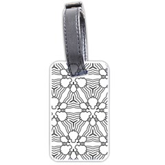 Pattern Design Pretty Cool Art Luggage Tags (one Side)  by Celenk