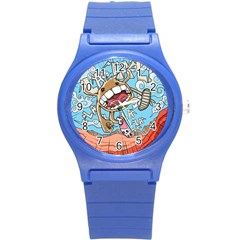 Illustration Characters Comics Draw Round Plastic Sport Watch (s) by Celenk