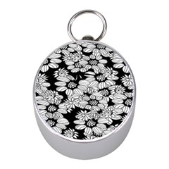 Mandala Calming Coloring Page Mini Silver Compasses by Celenk