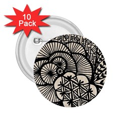 Background Abstract Beige Black 2 25  Buttons (10 Pack)  by Celenk