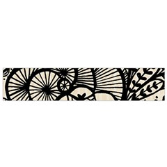 Background Abstract Beige Black Small Flano Scarf by Celenk