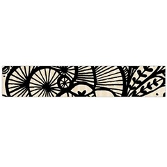 Background Abstract Beige Black Large Flano Scarf  by Celenk