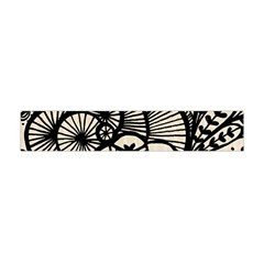 Background Abstract Beige Black Flano Scarf (mini) by Celenk