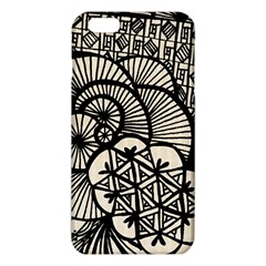 Background Abstract Beige Black Iphone 6 Plus/6s Plus Tpu Case by Celenk