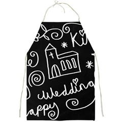 Wedding Chalkboard Icons Set Full Print Aprons by Celenk