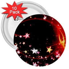 Circle Lines Wave Star Abstract 3  Buttons (10 Pack)  by Celenk