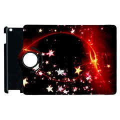 Circle Lines Wave Star Abstract Apple Ipad 2 Flip 360 Case by Celenk