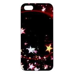 Circle Lines Wave Star Abstract Apple Iphone 5 Premium Hardshell Case by Celenk