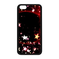 Circle Lines Wave Star Abstract Apple Iphone 5c Seamless Case (black) by Celenk