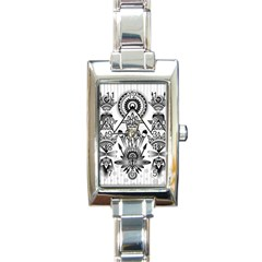 Ancient Parade Ancient Civilization Rectangle Italian Charm Watch
