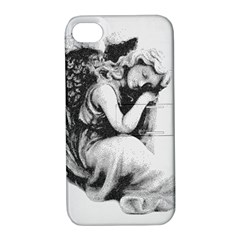 Stippling Drawing Dots Stipple Apple Iphone 4/4s Hardshell Case With Stand