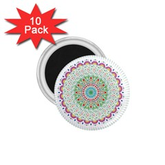 Flower Abstract Floral 1 75  Magnets (10 Pack)  by Celenk