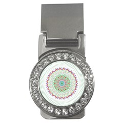 Flower Abstract Floral Money Clips (cz)  by Celenk