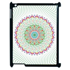 Flower Abstract Floral Apple Ipad 2 Case (black) by Celenk