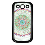 Flower Abstract Floral Samsung Galaxy S3 Back Case (Black) Front