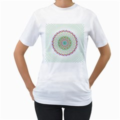 Flower Abstract Floral Women s T Shirt (white)