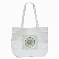 Flower Abstract Floral Tote Bag (white) by Celenk
