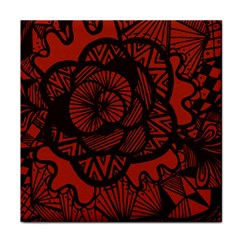 Background Abstract Red Black Face Towel