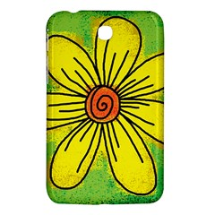 Flower Cartoon Painting Painted Samsung Galaxy Tab 3 (7 ) P3200 Hardshell Case  by Celenk
