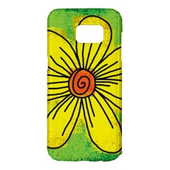 Flower Cartoon Painting Painted Samsung Galaxy S7 Edge Hardshell Case by Celenk