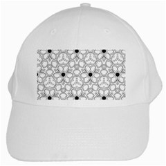Pattern Zentangle Handdrawn Design White Cap
