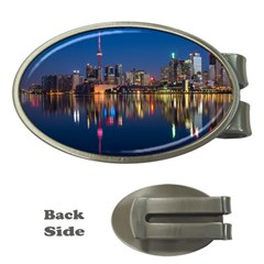 Buildings Can Cn Tower Canada Money Clips (oval)  by Celenk