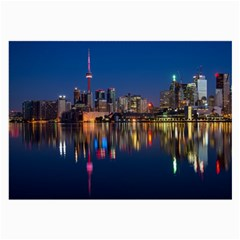 Buildings Can Cn Tower Canada Large Glasses Cloth by Celenk