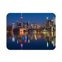 Buildings Can Cn Tower Canada Double Sided Flano Blanket (mini)  by Celenk