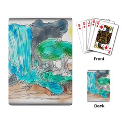 Doodle Sketch Drawing Landscape Playing Card by Celenk