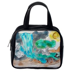Doodle Sketch Drawing Landscape Classic Handbags (one Side) by Celenk