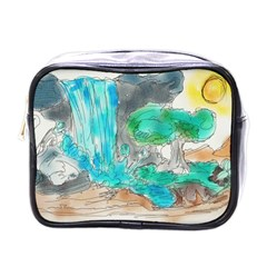 Doodle Sketch Drawing Landscape Mini Toiletries Bags by Celenk