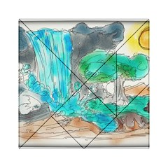 Doodle Sketch Drawing Landscape Acrylic Tangram Puzzle (6  X 6 ) by Celenk