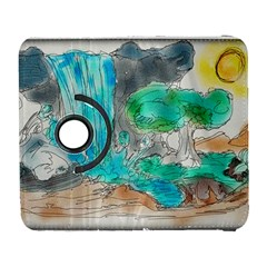 Doodle Sketch Drawing Landscape Galaxy S3 (flip/folio) by Celenk