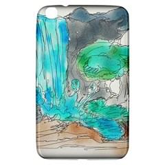 Doodle Sketch Drawing Landscape Samsung Galaxy Tab 3 (8 ) T3100 Hardshell Case  by Celenk