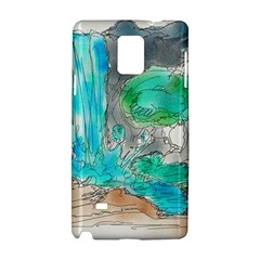 Doodle Sketch Drawing Landscape Samsung Galaxy Note 4 Hardshell Case by Celenk