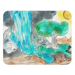 Doodle Sketch Drawing Landscape Double Sided Flano Blanket (large)  by Celenk