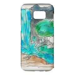 Doodle Sketch Drawing Landscape Samsung Galaxy S7 Edge Hardshell Case by Celenk