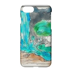 Doodle Sketch Drawing Landscape Apple Iphone 7 Hardshell Case by Celenk