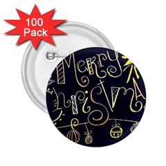 Chalk Chalkboard Board Frame 2 25  Buttons (100 Pack)  by Celenk