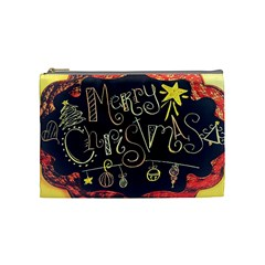 Chalk Chalkboard Board Frame Cosmetic Bag (medium)  by Celenk