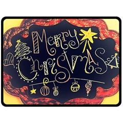 Chalk Chalkboard Board Frame Fleece Blanket (large)  by Celenk