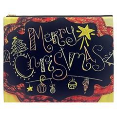 Chalk Chalkboard Board Frame Cosmetic Bag (xxxl)  by Celenk