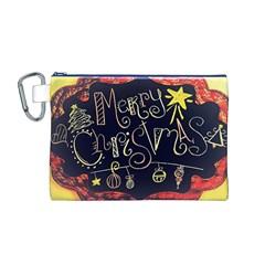 Chalk Chalkboard Board Frame Canvas Cosmetic Bag (m) by Celenk