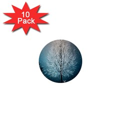 Winter Wintry Snow Snow Landscape 1  Mini Buttons (10 Pack)  by Celenk